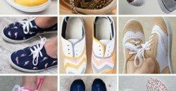DIY รองเท้าผ้าใบคู่เก่า ให้เป็นรองเท้าแฟชั่นเพิ่มราคา
