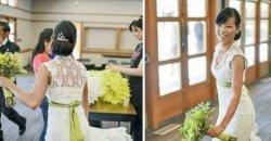 ชุดเจ้าสาว ชุดเดียวในโลก เจ้าสาวลงทุนถักชุดแต่งงานเองเป็นเวลากว่า 5 เดือน