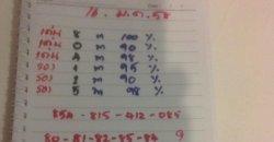 ท้าวพันศักดิ์16/01/57 หวยเลขวิ่งท้าวพันศักดิ์