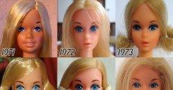 ตุ๊กตาบาร์บี้ กับความเปลี่ยนแปลงของ ใบหน้าบาร์บี้ ตั้งแต่อดีตถึงปัจจุบัน