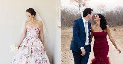 ชุดแต่งงาน หลากหลายสี ใครว่าชุดแต่งงานจะต้องสีขาวเท่านั้น สีอื่นก็สวยได้ เริ่ดเวอร์!