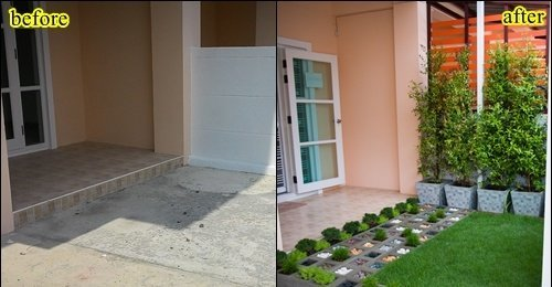 จัดสวน หน้าบ้านทาวน์เฮ้าส์ สวยได้ด้วยเนื้อที่เพียง 6.5 ตร.ม.