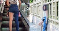 แฟชั่นกางเกง ขาสั้นข้างยาวข้าง เห็นแปลกๆ แบบนี้ แต่ภรรยาพระเอกดังคนนี้ ก็ใส่นะจ๊ะ!!