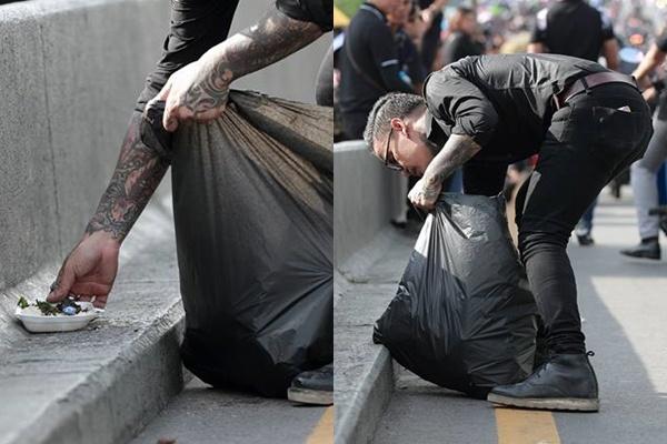 ช่างภาพสุดประทับใจ เห็นชายเก็บขยะที่สะพานพระปิ่นเกล้า ก่อนจะพบว่า ชายคนนั้นเป็นเน็ตไอดอลดัง