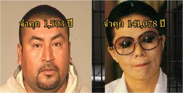 ผู้ต้องหา 10 คนที่ถูกตัดสินจำคุกยาวนานที่สุดในโลก มาดูว่าแต่ละคนก่อคดีอะไรบ้าง มีคนไทยรวมอยู่ด้วย!!