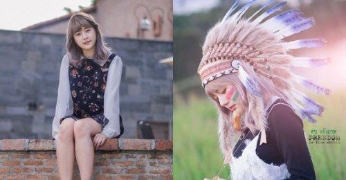 น้องนาเนียร์ นางแบบสาวน่ารักหน้าใหม่ ถ่ายแบบในธีมชุด อินเดียแดง ซึ่งบอกเลยสวยสุดๆ
