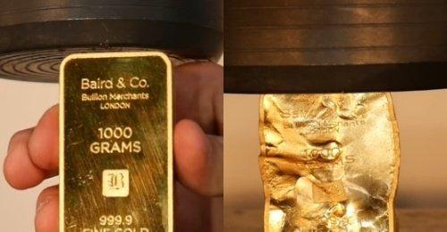 ทดลองทำลายทอง เงินเยอะจัดเลยเอาทอง99.99%มาบี้โชว์ ผลจะน่าลุ้นแค่ไหน