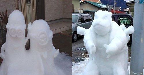หิมะตกหนักแล้วยังไง ชาวญี่ปุ่น ไอเดียเจ๋ง สร้างสรรค์หิมะที่น่าเบื่อให้ดูน่ามองในแบบของญี่ปุ่น