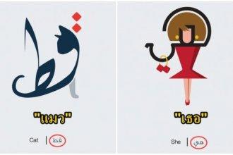 หนุ่มอาหรับเปลี่ยนตัวอักษรอาหรับให้กลายเป็นรูปตามความหมายของแต่ละคำ ที่ออกมาเจ๋งและช่วยจำได้ง่ายขึ้น