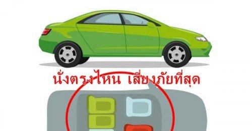 ตำแหน่งปลอดภัย เวลานั่งในยานพาหนะ ดูไว้นั่งตรงไหนเสี่ยง นั่งตรงไหนรอด!!
