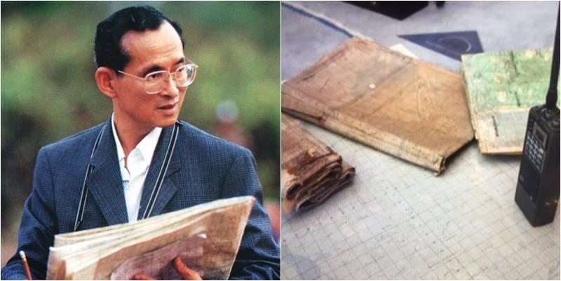 เปิดภาพมุมใกล้ แผนที่ทรงงานของพ่อ เครื่องมือปัดเป่าทุกข์ภัยราษฎรไทย เห็นแล้วคิดถึงพระองค์ยิ่งนัก