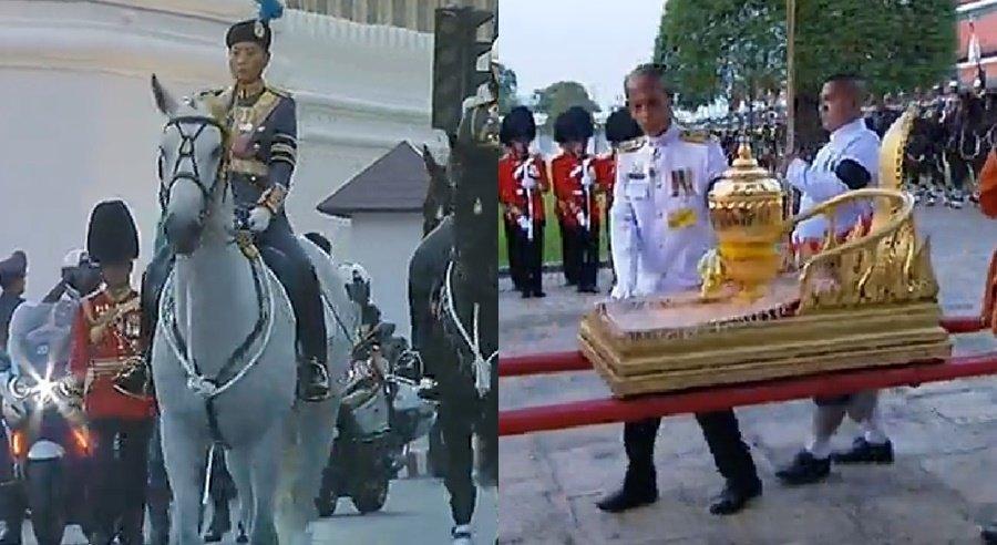 ริ้วขบวนสุดท้าย พระองค์หญิงสิริวัณณวรีฯ นำกองทหารม้า 77 ม้า เชิญพระบรมราชสรีรางคาร ทูลกระหม่อมปู่