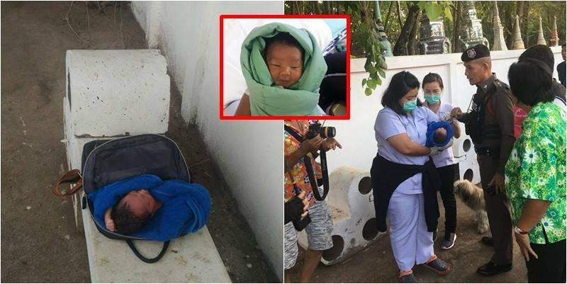 สลด ทารกน้อยเพศหญิง ถูกทิ้งวางบนม้านั่ง หน้าวัดป่าโนนนิเวศน์ จวกยับพ่อแม่ ไร้ความรับผิดชอบ